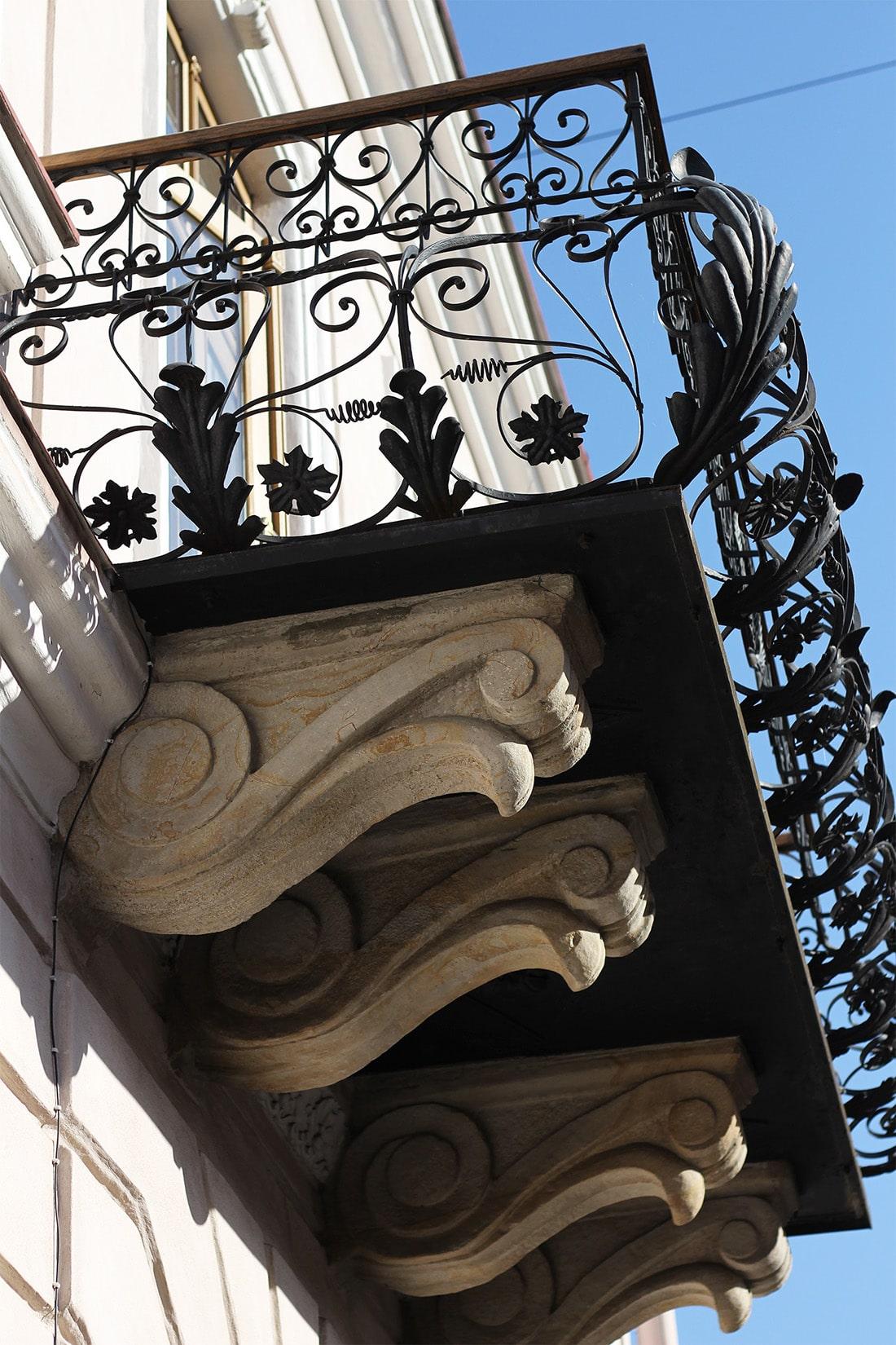 Rzeszów - balkon kamienicy na Rynku