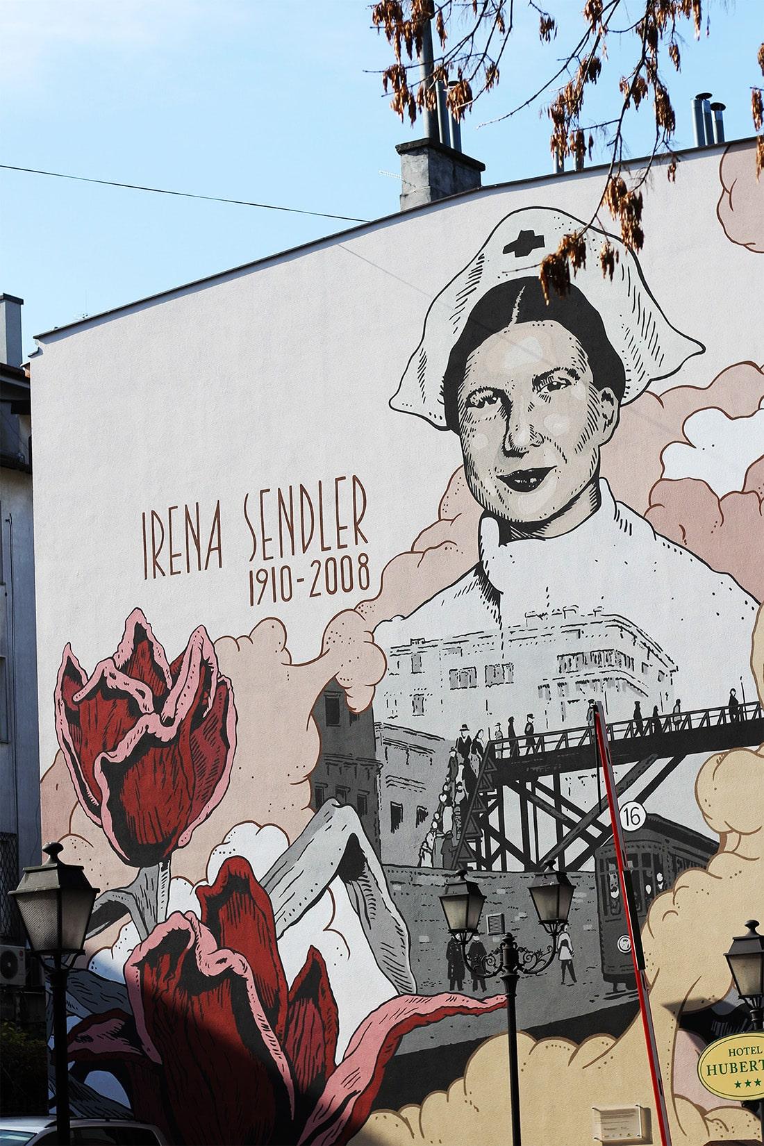 Mural przy ul. Mikołaja Kopernika