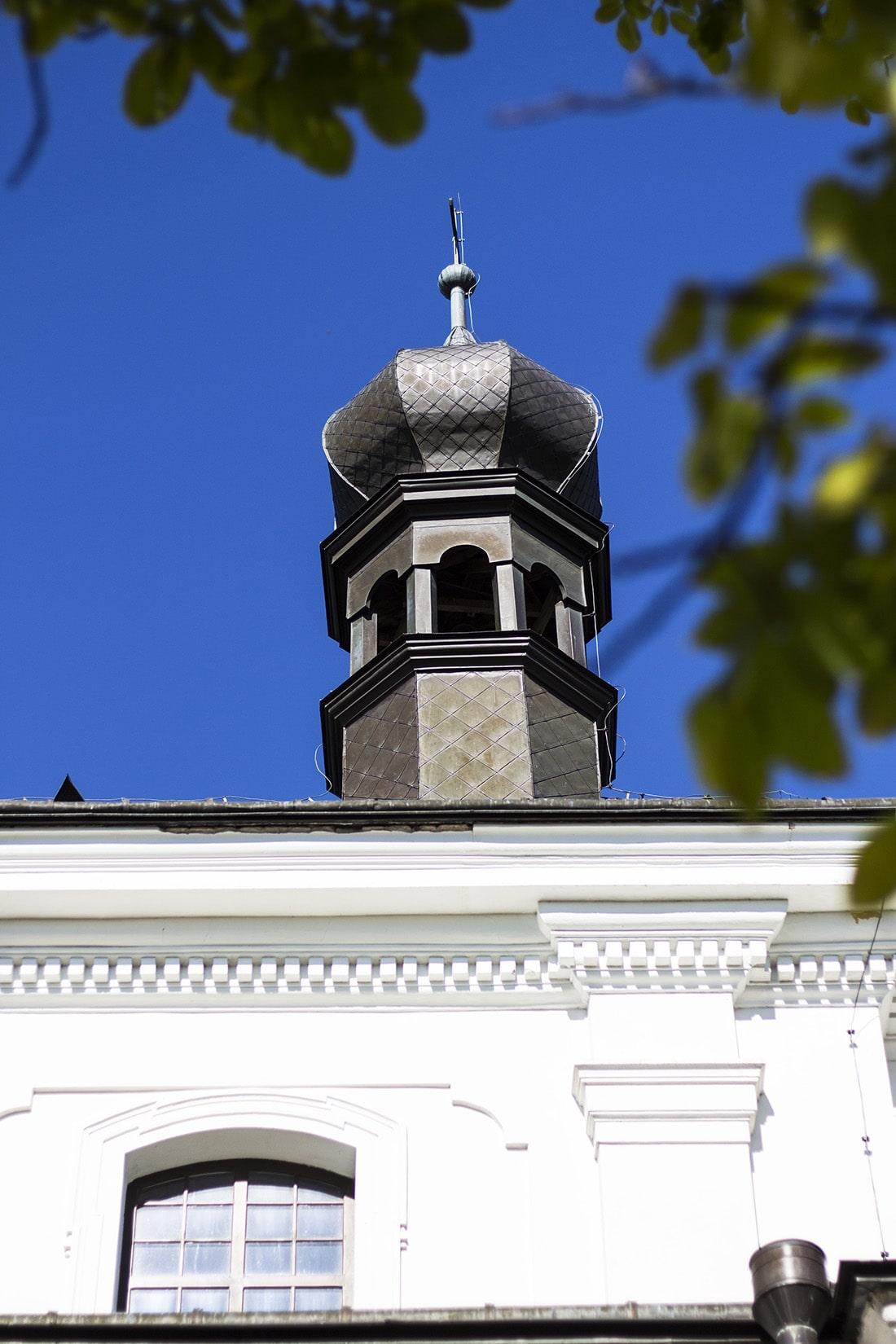 Detale - wieża kościoła pw. Przemienienia Pańskiego w Tarnogrodzie
