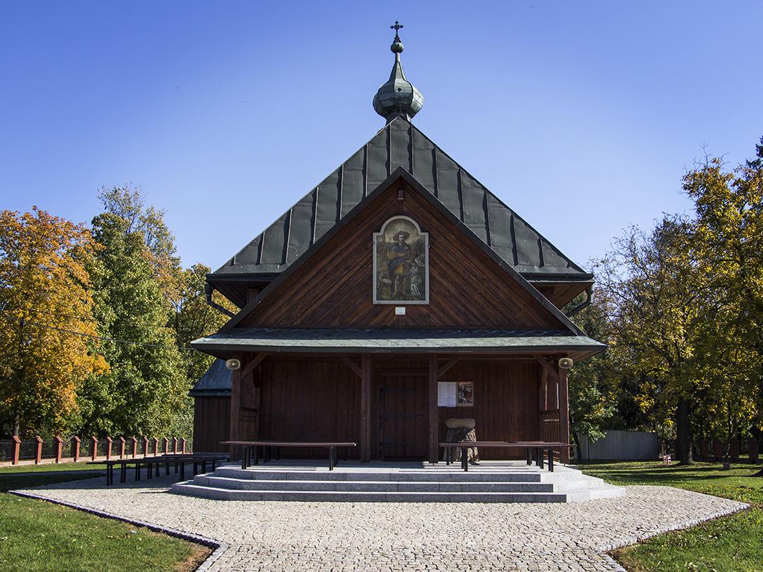 Front kościoła Św. Rocha w Tarnogrodzie