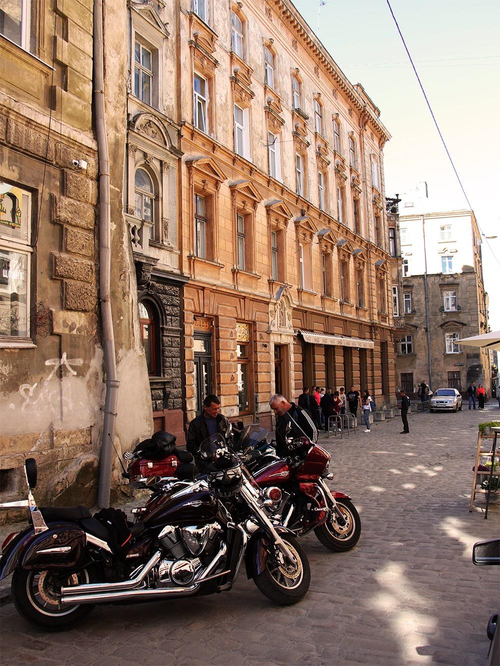 Lwów - jedna z ulic w centrum miasta