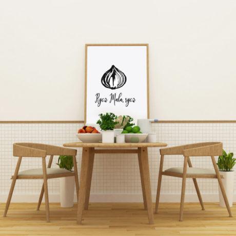 Plakat do kuchni Rycz Mała, rycz
