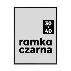 Ramka czarna 30x40 cm