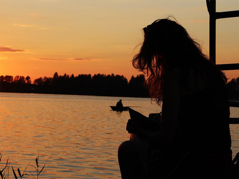 jezioro Białe zachód słońca