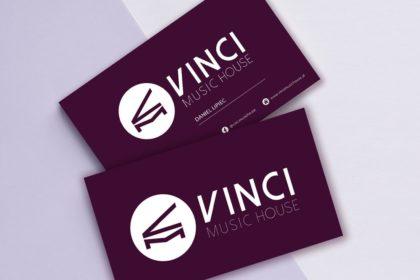 Logo i wizytówki dla Vinci Music House