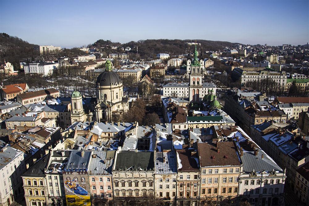 ratusz we Lwowie widok