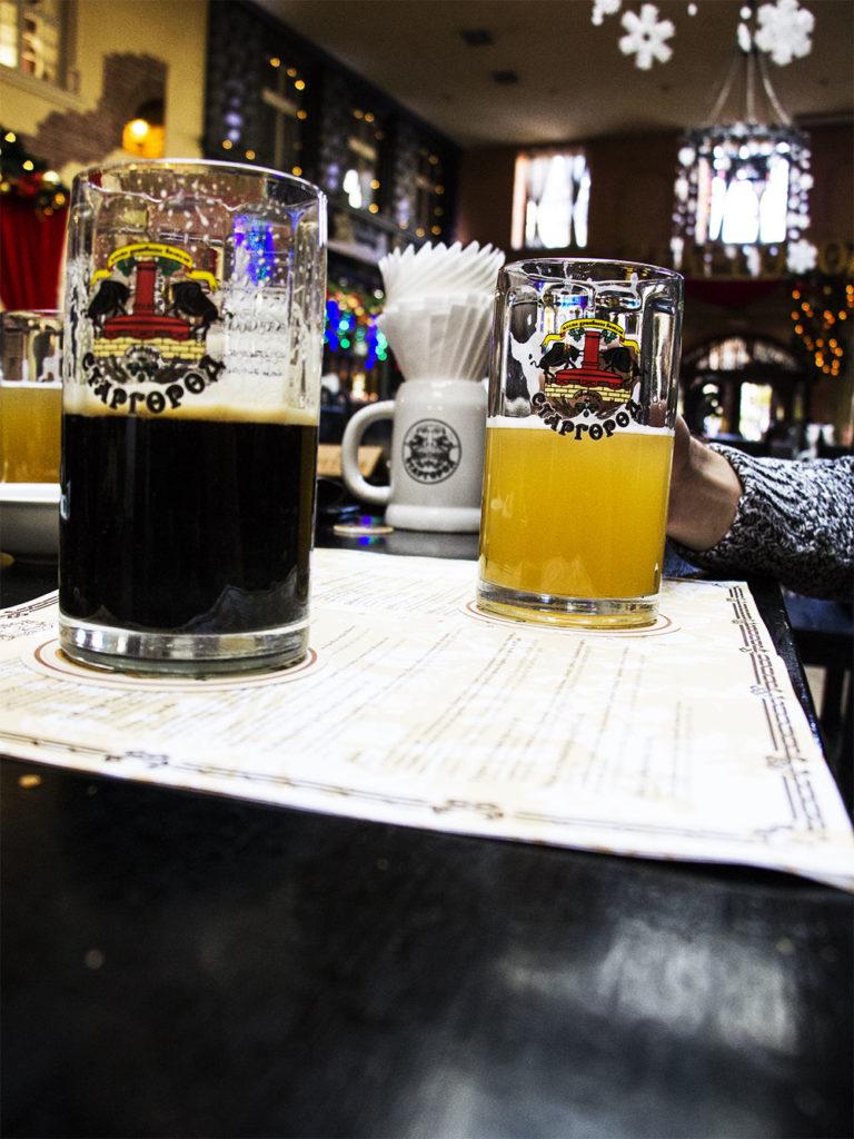 Piwo w restauracji Stargorod we Lwowie