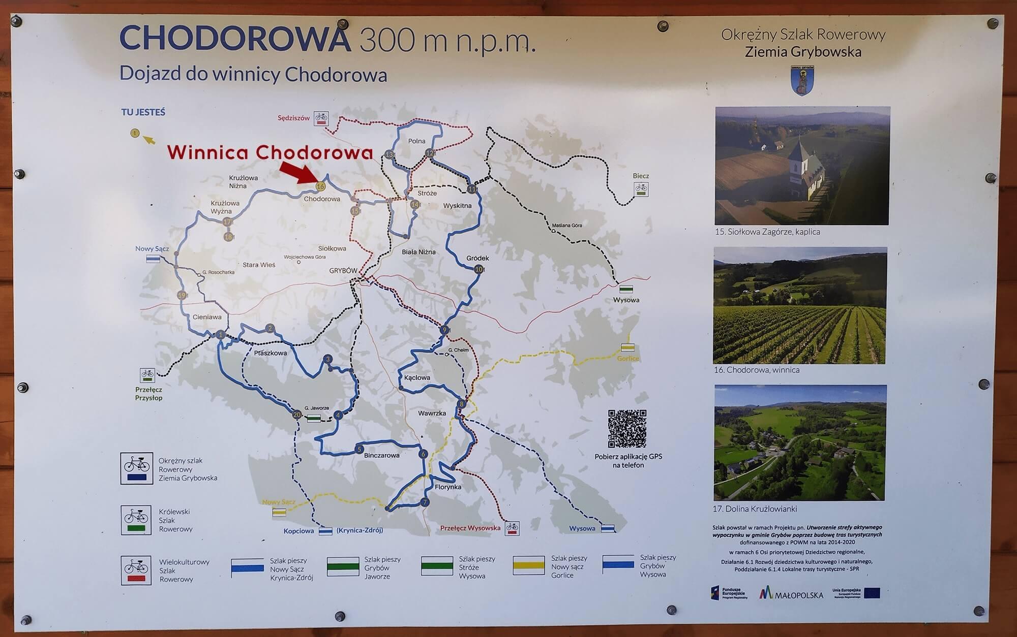winnica chodorowa jak dojechac, mapa
