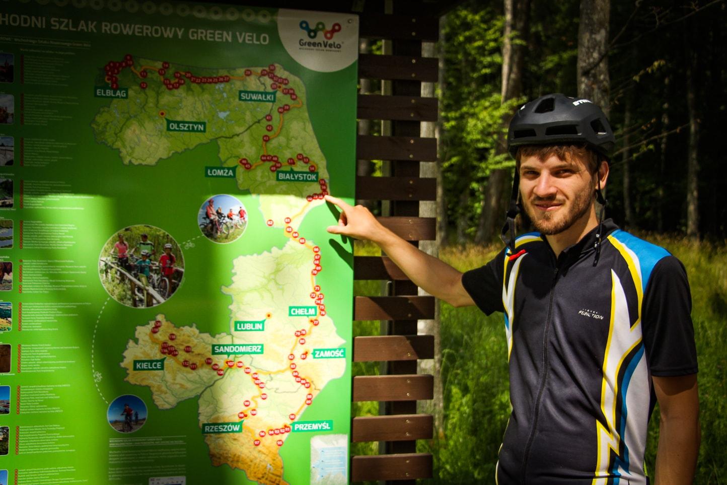 Trasa Green Velo  - jesteśmy Białowieży