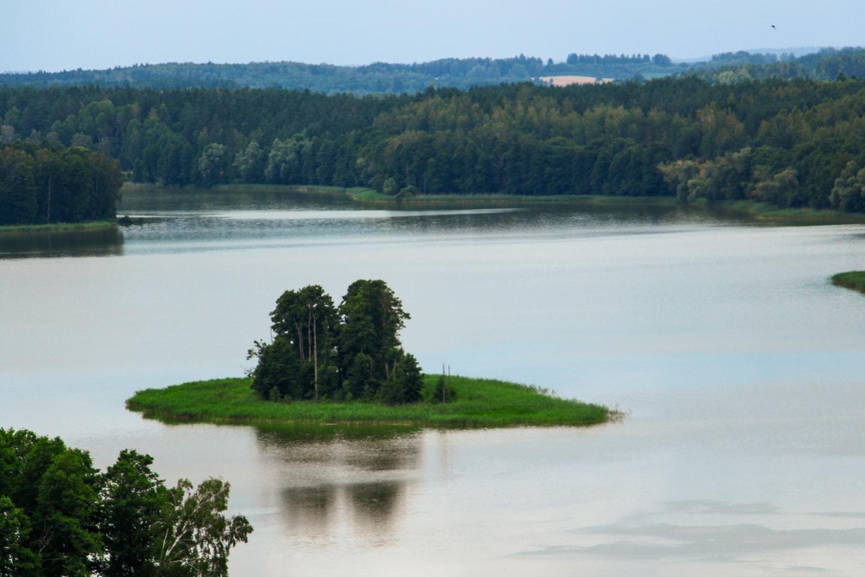 Wieża widokowa Stare Juchy - Jezioro Jędzelewo widok