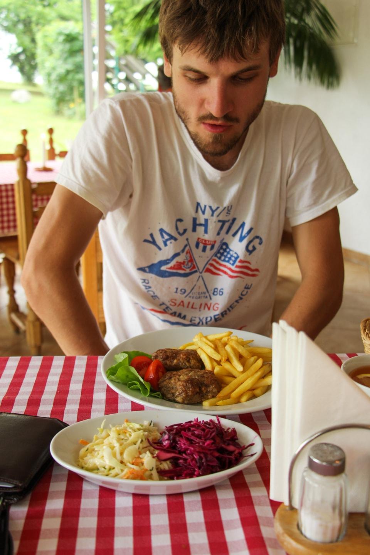 Obiad w restauracji Góra Wiatrów