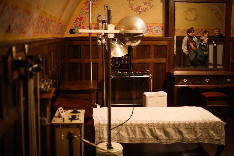 Pokój do masaży w łaźniach rzymskich w Łańcucie