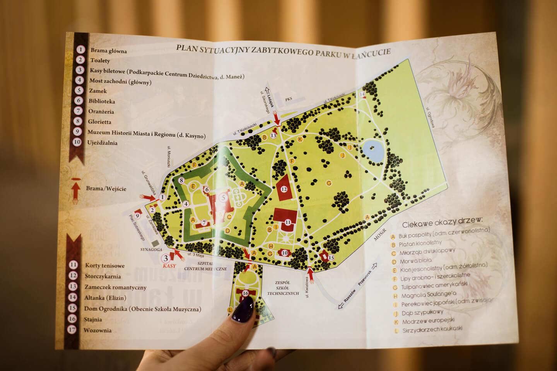 Mapa Zamku w Łańcucie