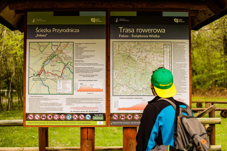 Ścieżka Przyrodnicza Folusz - mapa