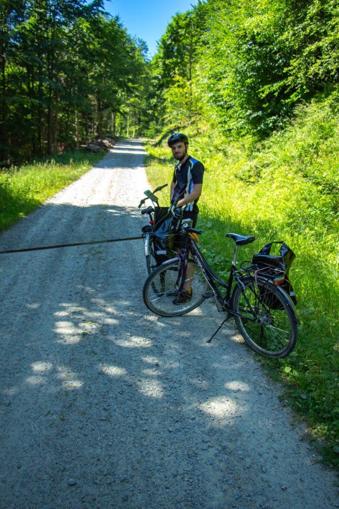 przehyba rowerem