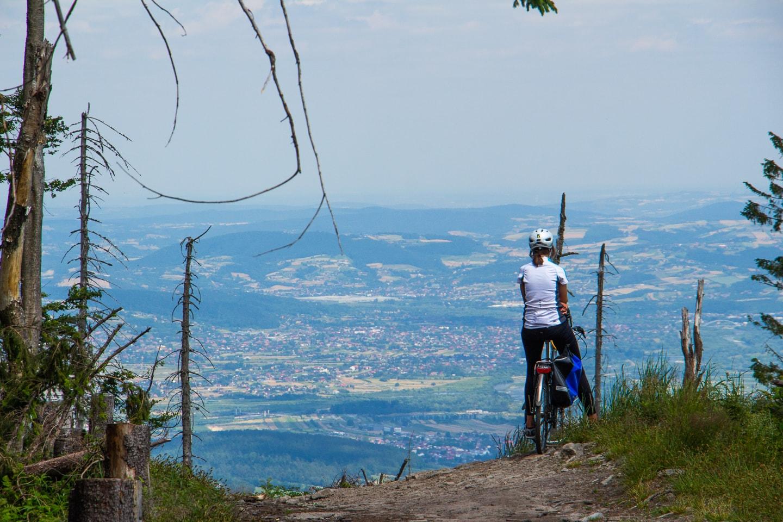 Przehyba rowerem - Szlak z Rytra